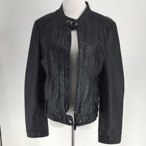 BB Dakota Genuine Leather Racer Moto Jacket